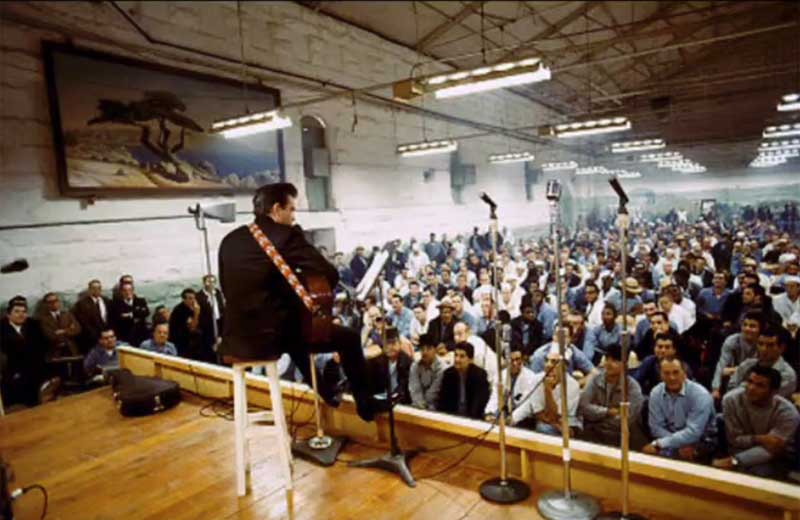 johnny cash in folsom prison.