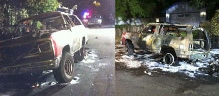Vehicle Fire Injures Three, Including 6 Year Old
