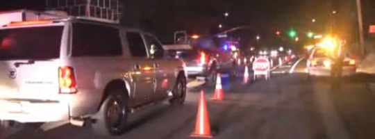Folsom Police set up a DUI checkpoint