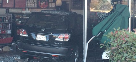 Crashing Into Starbucks On East Bidwell