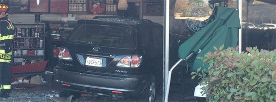 Crashing Into Starbucks On East Bidwell