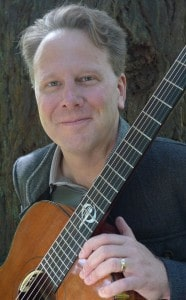 Brian Gore with guitar