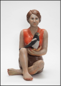 Woman and Magpie, by Jeanette Morrow